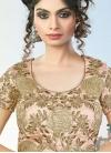 Magnificent Embroidered Work Raw Silk Beige Trendy A Line Lehenga Choli - 1