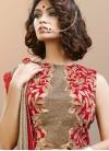 Deserving Red Jacquard Silk Trendy Long Choli Lehenga For Ceremonial - 1