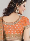 Sterling Raw Silk Beads Work A Line Lehenga Choli - 1