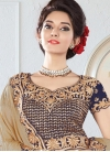 Aqua Blue and Beige Silk Trendy Designer Lehenga Choli For Party - 1