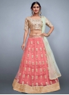 Cream and Salmon Embroidered Work Designer Classic Lehenga Choli - 1