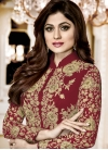 Shamita Shetty Embroidered Work Designer Salwar Kameez - 1