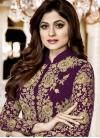 Shamita Shetty Faux Georgette Floor Length Designer Salwar Suit - 1