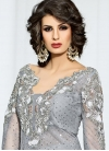 Booti Work Net Pant Style Designer Salwar Kameez - 2