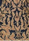 Crepe Silk Beads Work Beige and Navy Blue Pant Style Designer Suit - 2