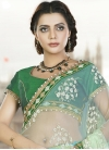 Observable Net Beads Work Half N Half Saree - 1
