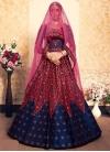 Satin Silk Designer A Line Lehenga Choli - 1