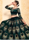 Embroidered Work Satin Silk A - Line Lehenga - 1