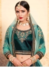 Embroidered Work Satin Silk A - Line Lehenga - 2