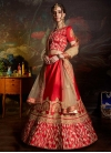 Satin A - Line Lehenga For Bridal - 1
