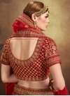 Velvet A Line Lehenga Choli For Bridal - 2