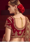 Cream and Red A Line Lehenga Choli For Bridal - 2