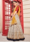 Beads Work Beige and Red A - Line Lehenga - 1