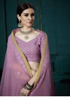 Embroidered Work Faux Georgette A - Line Lehenga - 1