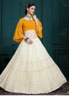 Faux Georgette Embroidered Work Trendy Lehenga - 2