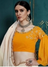 Faux Georgette Embroidered Work Trendy Lehenga - 1