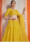 Art Silk Aari Work A Line Lehenga Choli - 2