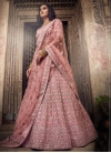 Embroidered Work Satin A - Line Lehenga - 2