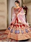 Booti Work Velvet Trendy A Line Lehenga Choli - 1