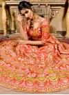 Satin Silk Embroidered Work Lehenga Choli - 1