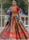 Brown and Red A Line Lehenga Choli For Festival - 1
