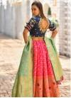 Banarasi Silk Embroidered Work A Line Lehenga Choli - 1