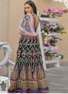Velvet Embroidered Work Trendy Lehenga - 1