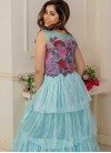 Embroidered Work Layered Designer Gown - 1