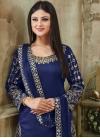 Art Silk Semi Patiala Salwar Kameez For Ceremonial - 1