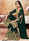 Karachi Work Sharara Salwar Suit - 1