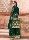 Satin Georgette Sharara Salwar Kameez For Party - 1