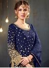 Tafeta Silk Lace Work Trendy Salwar Kameez - 1