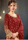 Lace Work Trendy Straight Salwar Kameez - 1