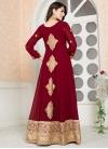 Faux Georgette Embroidered Work Long Length Designer Anarkali Suit - 1