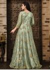 Net Embroidered Work Long Length Anarkali Salwar Suit - 1