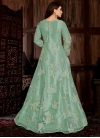 Embroidered Work Net Floor Length Trendy Salwar Suit - 1