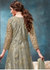 Net Long Length Anarkali Suit For Ceremonial - 1