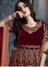 Velvet Long Length Designer Anarkali Suit - 1