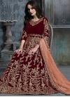 Velvet Long Length Designer Anarkali Suit - 2