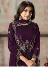 Embroidered Work Faux Georgette Pant Style Classic Suit - 1