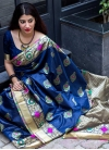 Thread Work Contemporary Saree - 1