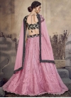Black and Pink Trendy A Line Lehenga Choli - 1