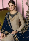 Satin Georgette Embroidered Work Pakistani Salwar Suit - 1