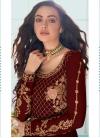 Faux Georgette Embroidered Work Floor Length Anarkali Salwar Suit - 1