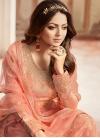 Drashti Dhami Jacquard Palazzo Style Pakistani Salwar Suit - 1