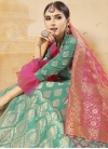 Thread Work Banarasi Silk Trendy A Line Lehenga Choli - 1