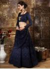 Faux Georgette Embroidered Work A - Line Lehenga - 2