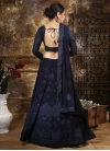 Faux Georgette Embroidered Work A - Line Lehenga - 1