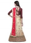 Satin Silk A - Line Lehenga For Ceremonial - 2