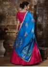 Blue and Rose Pink Trendy Lehenga Choli - 1